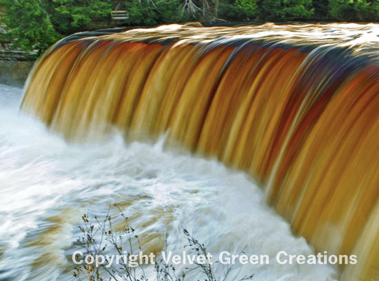 The Tahquamenon Falls State Park encompasses 50,000 acres and stretches over thirteen miles.  This majestic park is home to the Upper and Lower Tahquamenon Falls.
