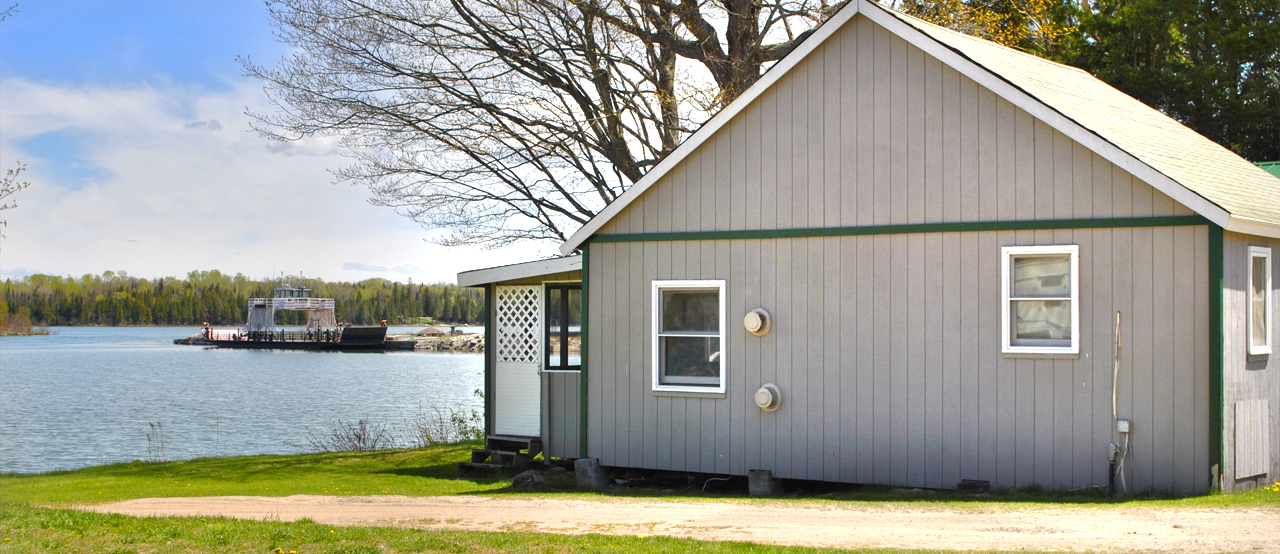 Rock cut resort barbeau mi cabin rentals campground for Fishing cabins in michigan